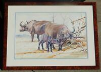 Allan Carter b.1909 noted wildlife artist, watercolor 16 x 24