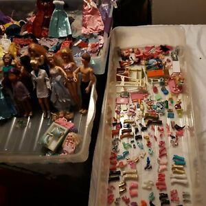 HUGE Lot Barbie Kelly Disney & Bratz Doll Clothes Accessories Shoes Misc