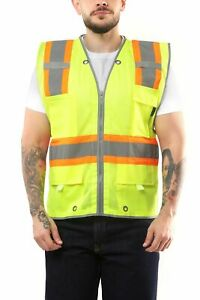 KV03 - Kolossus Pro Deluxe High Visibility Vest with Multi Frontal Pockets | 2
