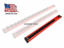 Mechanics Time Saver 1/4 in Drive Lock A Socket Magnetic Rail Rack MTS USA Made