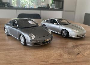 Porsche 996 GT3 Hot Wheels & 997 Carrera S Maisto in 1:18