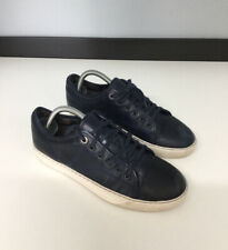 Lanvin Mens Shoes Sneakers Trainers Size Uk 5 Eu 39 Navy Blue Leather