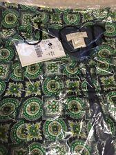 NWT J Crew $118 Geometric Print Crepe Bib Shirttail Dress sz 0 Clover Mint Green