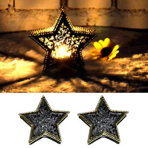 2x Vintage Moroccan Garden Star Candle Holder Lamp Holder Garden Patio Decor