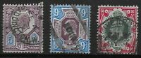 KEVII Small Group-FU-Fresh Colours-5d.,9d.,1s.  Cat.£100+  Ref.0967