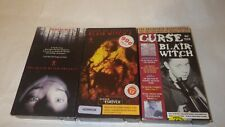 3 Vhs Curse Of The Blair Witch Invest. + Book of Shadows + Blair Witch project