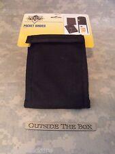 "US Military ""Pocket Binder""  3""x5"" Notebook, BLACK Nylon, Pen/Storage Pocket"