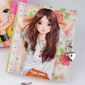 TOPModel Secrets Book With Lock - Brown Hair