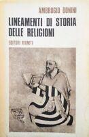 AMBROGIO DONINI LINEAMENTI DI STORIA DELLE RELIGIONI EDITORI RIUNITI 1974