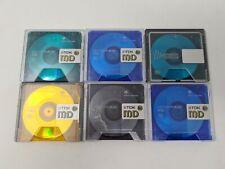 More details for 6 minidisc mini disc used job lot bundle blank used. tdk sony