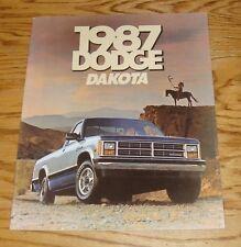 Original 1987 Dodge Dakota Deluxe Sales Brochure 87