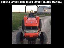 Kubota L2900 L3300 L3600 L4200 Operations Manual for L 2900 Tractor Service