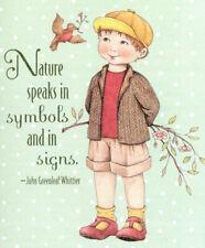 John Greenleaf Whittier-Nature Speaks-Handcrafted Magnet-W/Mary Engelbreit art