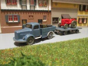 2. Wahl Konvolut Mercedes L 3500 + Anhänger + Traktor + Ladegut 1:87 H0 WIKING