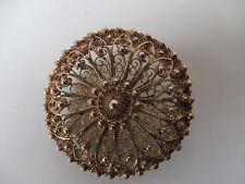 schöne,alte Brosche__925 Silber__Topazio Portugal__4cm  !