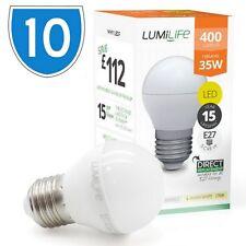 10x 5w = 30w E27 Led Pelota de golf estándar Rosca Edison Bombilla fría luz del día blanco es
