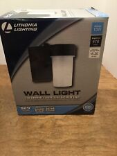 Lithonia Lighting Wall-Mount Outdoor Black Fluorescent Cylinder Light