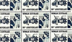 1970 - WOMAN SUFFRAGE - #1406 Full Mint -MNH- Sheet of 50 Postage Stamps