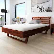 vidaXL Acaciahouten Bedframe Massief 140x200 cm Bed Frame Frames Ledikant