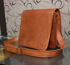 New Men's Brown Leather Handbag Briefcase Office Laptop Messenger Shoulder Bag
