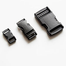 Black Buckle Plastic Clip Craft Webbing Paracord Bag Strap 10 15 25 30 40 50mm