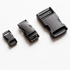 Black Buckle Plastic Clip Craft Webbing Paracord Bag Strap 10 15 25 30 40 50 mm