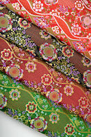 "BY 1/2 YD x 28"" JAPANESE STYLE SILK DAMASK JACQUARD BROCADE FABRIC: NIJINA PLUM-"