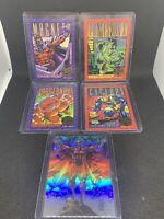 1993 Marvel X-Men Series 2 Insert Lot X5  30 Years Gold Stamp Magneto Hologram