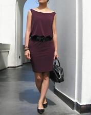 HZ Designer Dress Plum Purple Blouson Sleeveless Cocktail Casual Made In USA NEW
