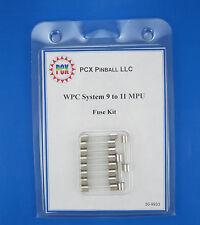 1989 Williams Earthshaker Pinball Machine Fuse Kit - System 11B (10 fuses)