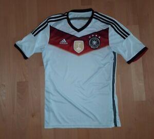 Adidas DFB Deutschland Weltmeister Trikot WM 2014 in Größe M 4 Sterne und Patch