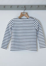 Age 3-4 - Hey Joe Clothing classic girls Breton top - Made in Britain
