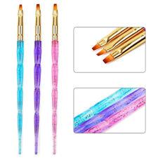 3Pcs Thin Tube Nail Art Pen Tips UV Gel Colorful Brush Manicure Tools Set Hot