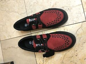 TUK creeper sneakers #3 BRAND NEW IN BOX,NEVER WORN; Red/Black Mens size 9