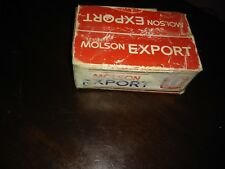 Vtg Molson Export Two Decks Playing Cards Beer Case Package