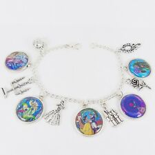 BEAUTY AND THE BEAST CHARM BRACELET disney princess stained glass window wedding
