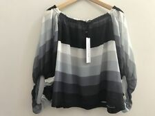 3/4 Sleeve Hand-wash Only Striped Tops & Blouses for Women