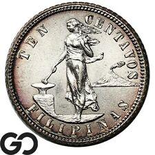 1904 Philippines Ten Centavos, Silver