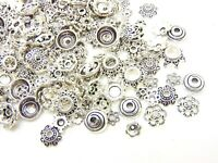 Mixed Tibetan Silver Bead Caps Mixed Size & Design Jewellery Findings Beading ML