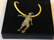 "Football Control GT5 English Pewter On 18"" Yellow Cord Necklace"