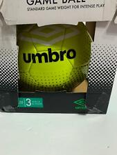 Umbro Official Size 3 Soccer Ball Lime Green and Black Brand New