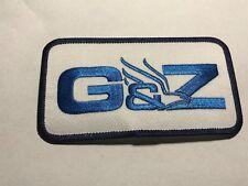 Guntert Zimmerman G&Z Concrete Slipform Pavers Equipment Eagle Blue Logo Patch B