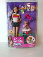 Mattel Barbie Skipper Babysitters Inc Doll Baby, Highchair Bike Christmas Gift
