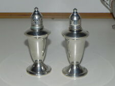 Vintage Salt pepper Shakers Stering Silver Weighted made by Ouchin Creation