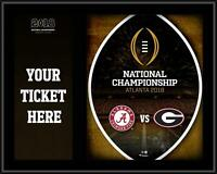 Alabama vs. Georgia 10.5x13 CFP 2018 Championship Game Ticket Plaque - Fanatics