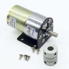 DC 12V 100RPM Gear Box Motor 1/34.5 High Torque Reversible Motor Holder Coupling