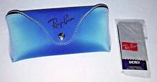 New Ray-Ban Gradient Aqua Blue Sunglasses Case  with Cleaning Cloth
