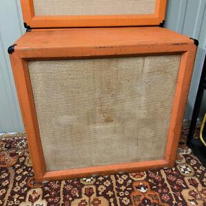 Vintage 60s 1970s Orange New Compton 4x12 Guitar Amplifier Speaker Cabinet EMPTY