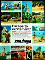 Vtg 1968 San Diego California 200th anniversary '69 advertisement print ad