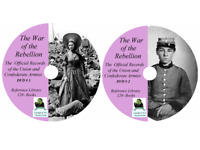 WAR OF THE REBELLION Official Records - Civil War  - 128 Volumes on DVD CD